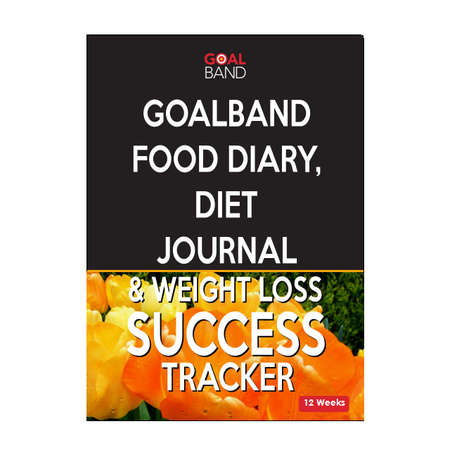 Food diary weight los journal and diet tracking journal. motivation for weightwatchers and slimmers and losing weight