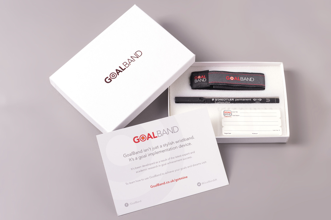 How does GoalBand Weight Loss Motivation Work? Here is the answer. Picture of Weight Loss Motivation tools and techniques from the GoalBand company.